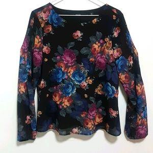 NEW Vero Moda Floral Long Sleeve Top   Size M